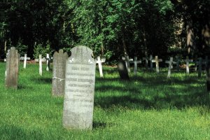 Begraafplaats in Ommerschans NL